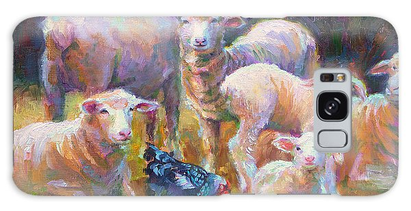 Stranger At The Well - Spring Lambs Sheep And Hen Galaxy Case
