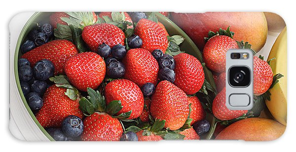 Strawberries Blueberries Mangoes And A Banana - Fruit Tray Galaxy Case by Andee Design