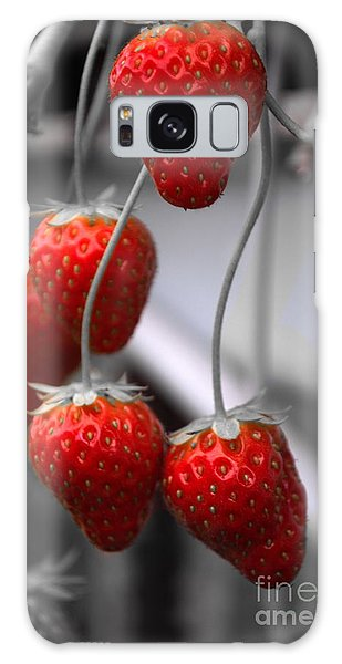 Strawberries Galaxy Case by Michelle Meenawong