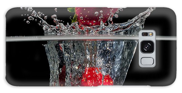 Strawberries Splashing In Water Galaxy Case