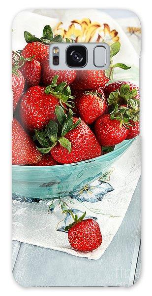 Strawberries  Galaxy Case by Stephanie Frey
