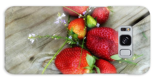 Strawberrries Galaxy Case by Valerie Reeves