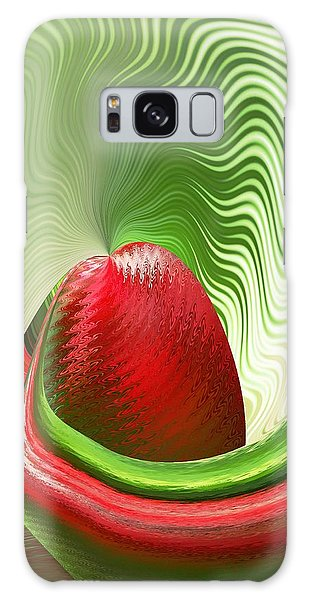 Strawberry And Fan Galaxy Case by rd Erickson