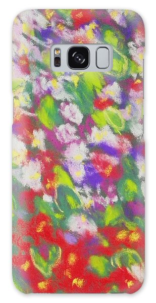 Strawberry Begonias II Galaxy Case by Shirley Moravec