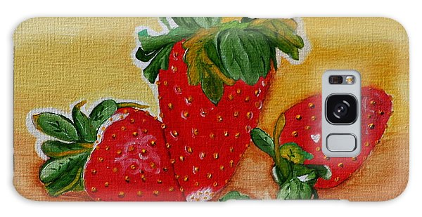 Strawberry Delight Galaxy Case by Johanna Bruwer
