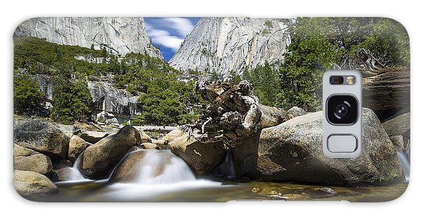 Stream Above Vernal Falls Galaxy Case by Mike Lee