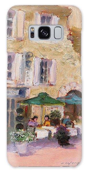 Street Cafe Galaxy Case by J Reifsnyder