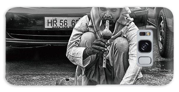 Street Corner Snake-charmer Galaxy Case by John Hoey
