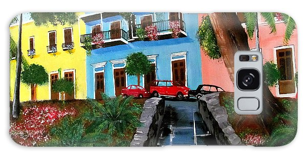 Street Hill In Old San Juan Galaxy Case by Luis F Rodriguez