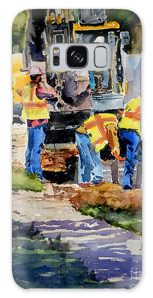 Street Improvements Galaxy Case by Ron Stephens