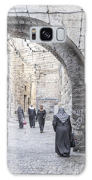 Street In Jerusalem Old Town Israel Galaxy Case