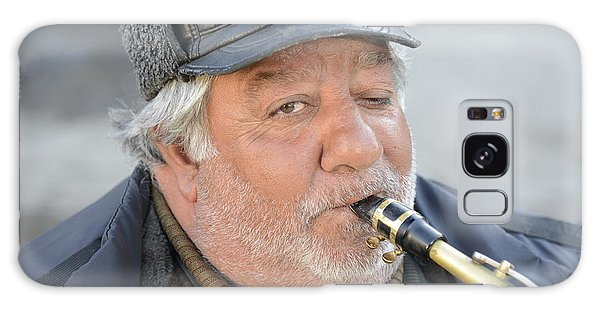 Street Musician - The Gypsy Saxophonist 1 Galaxy Case