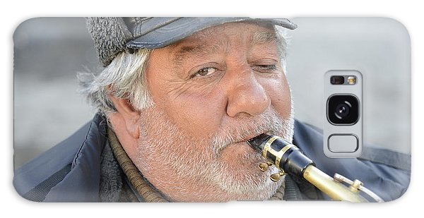 Street Musician - The Gypsy Saxophonist 1 Galaxy Case by Teo SITCHET-KANDA