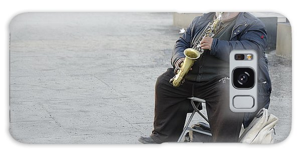 Street Musician - The Gypsy Saxophonist 3 Galaxy Case