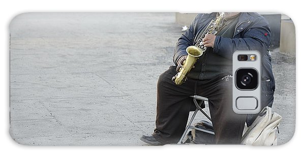 Street Musician - The Gypsy Saxophonist 3 Galaxy Case by Teo SITCHET-KANDA