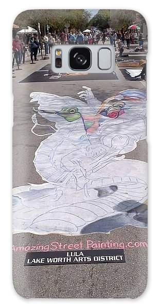 Galaxy Case - Street Painting Day 2 by Patrick Anthony Pierson