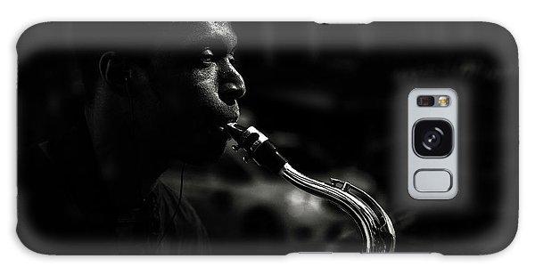 Saxophone Galaxy Case - Street Saxophone Musician by Shan Jiang