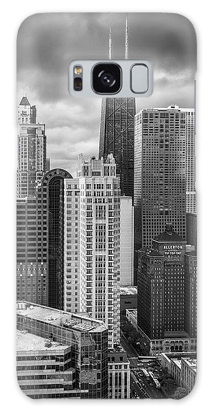 Chicago Art Galaxy Case - Streeterville From Above Black And White by Adam Romanowicz