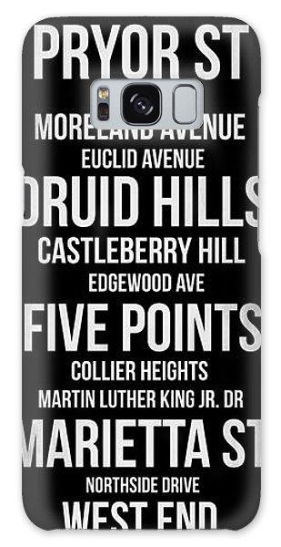 Downtown Galaxy Case - Streets Of Atlanta 2 by Naxart Studio
