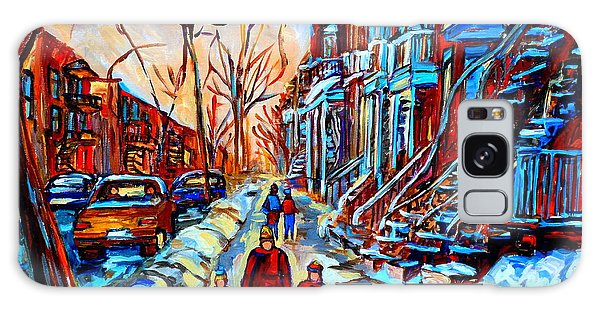Streets Of Montreal Galaxy Case by Carole Spandau