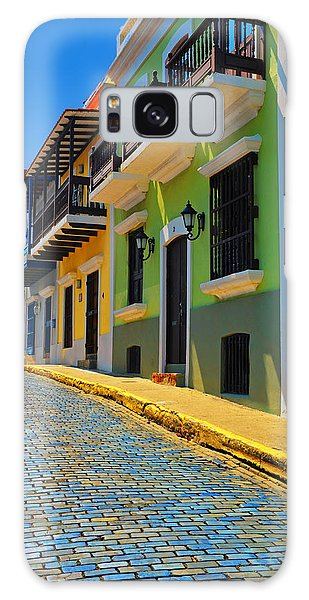 Streets Of Old San Juan Galaxy Case by Stephen Anderson