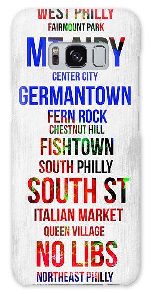 Downtown Galaxy Case - Streets Of Philadelphia 1 by Naxart Studio