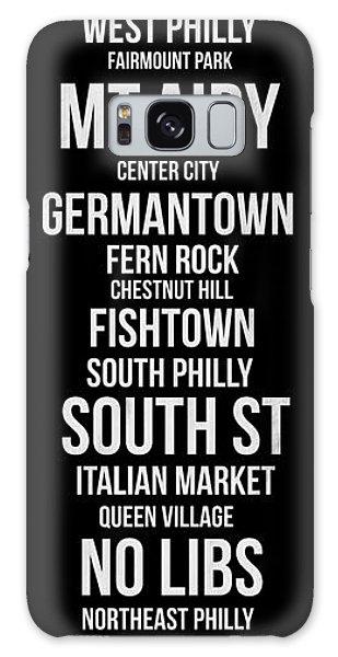 Downtown Galaxy Case - Streets Of Philadelphia 2 by Naxart Studio