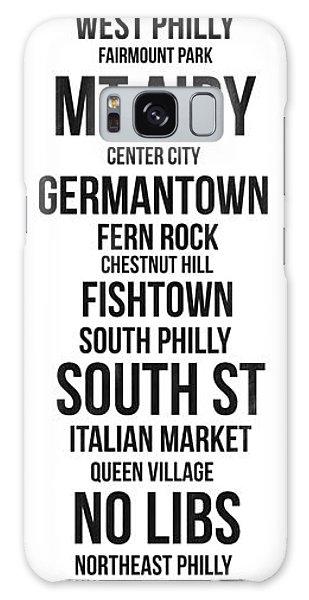 Downtown Galaxy Case - Streets Of Philadelphia 3 by Naxart Studio