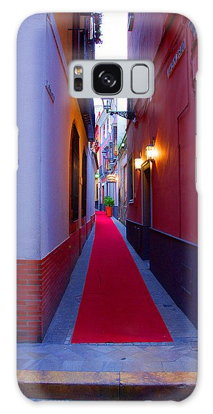 Streets Of Seville - Red Carpet  Galaxy Case by Andrea Mazzocchetti
