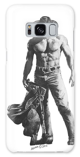 Strength Of A Cowboy Galaxy Case