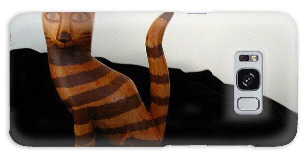 Striped Cat Galaxy Case