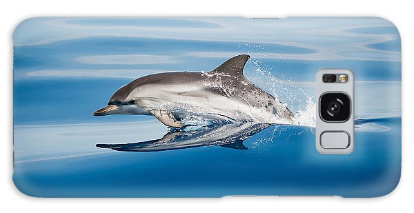 Splash Galaxy Case - Striped Dolphin by Mirko Ugo