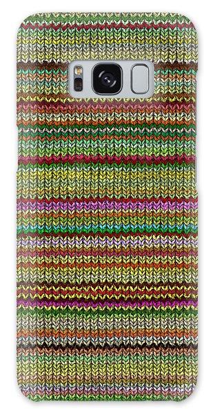 Striped Knit Fabric Galaxy Case