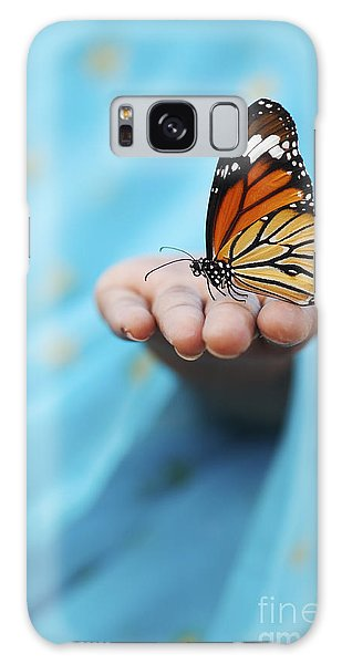 Striped Tiger Butterfly Galaxy Case