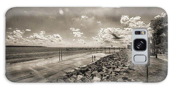 Stroll On The Beach Galaxy Case by J Riley Johnson