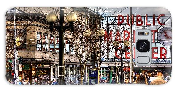 Strolling Towards The Market - Seattle Washington Galaxy Case