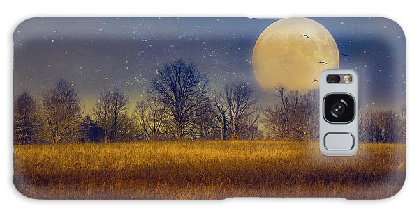 Struck By The Moon Galaxy Case
