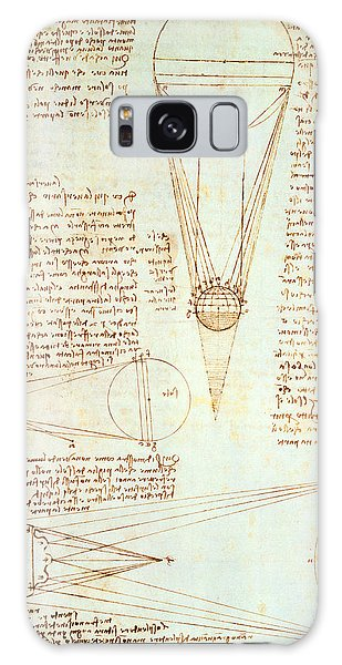 Pen And Ink Drawing Galaxy Case - Studies Of The Illumination Of The Moon by Leonardo Da Vinci