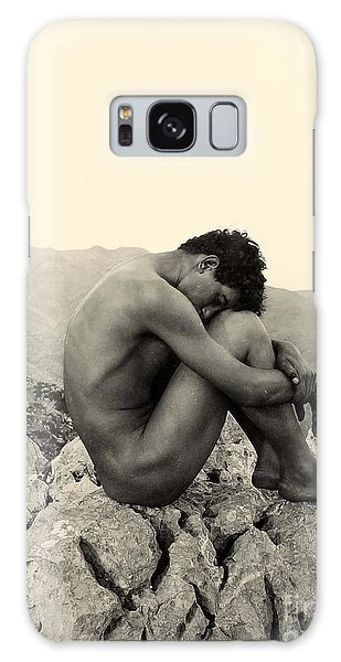 Study Of A Male Nude On A Rock In Taormina Sicily Galaxy Case