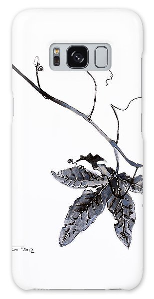Galaxy Case - Study Of Leaf In Ink by Zuzana Vass
