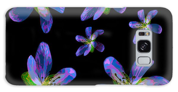 Study Of Seven Flowers #6 Galaxy Case