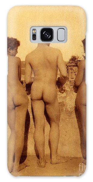 Portraiture Galaxy Case - Study Of Three Male Nudes by Wilhelm von Gloeden
