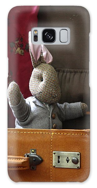 Stuffed Bunny In A Suitcase Galaxy Case
