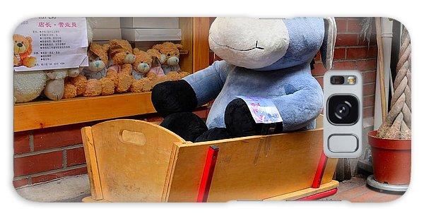 Stuffed Donkey Toy In Wooden Barrow Cart Galaxy Case