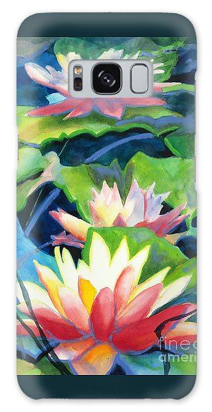 Styalized Lily Pads 3 Galaxy Case by Kathy Braud