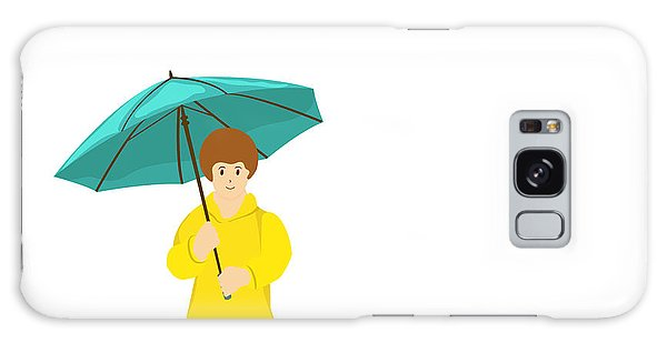 Environments Galaxy Case - Stylish Girl Holding Green Umbrella On by Allies Interactive