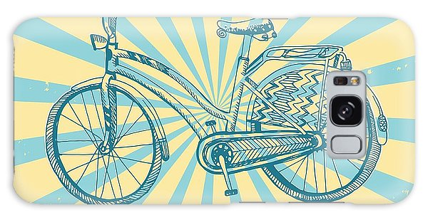Basket Galaxy Case - Stylish Hand Drawn Sketchy City Bike On by Shtonado