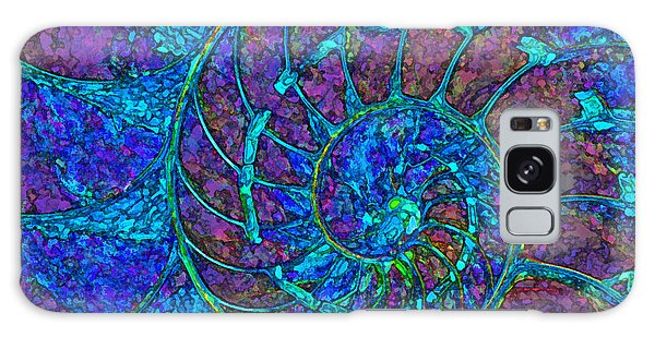 Stylized Nautilus  Galaxy Case by Clare VanderVeen