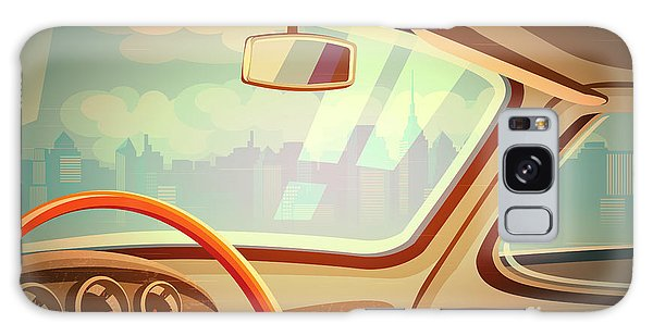 Automobile Galaxy S8 Case - Stylized Retro Interior Vector by Andrii Stepaniuk