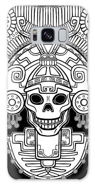 Indian Head Galaxy Case - Stylized Skull. Pagan God Of Death by Zvereva Yana
